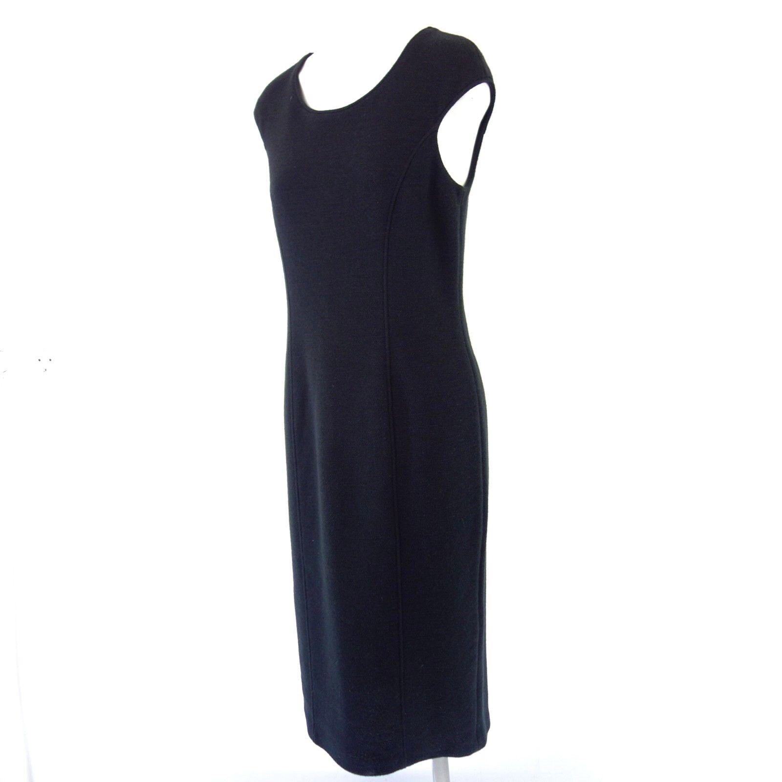 ARMANI COLLEZIONI Damen Kleid IT 44 DE 38 Schwarz Etuikleid mit Wolle NP 599 NEU
