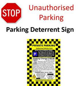 No-Parking-Signs-Large-A3-Printed-Enforcement-PCN-Stop-parking-on-Private-Land