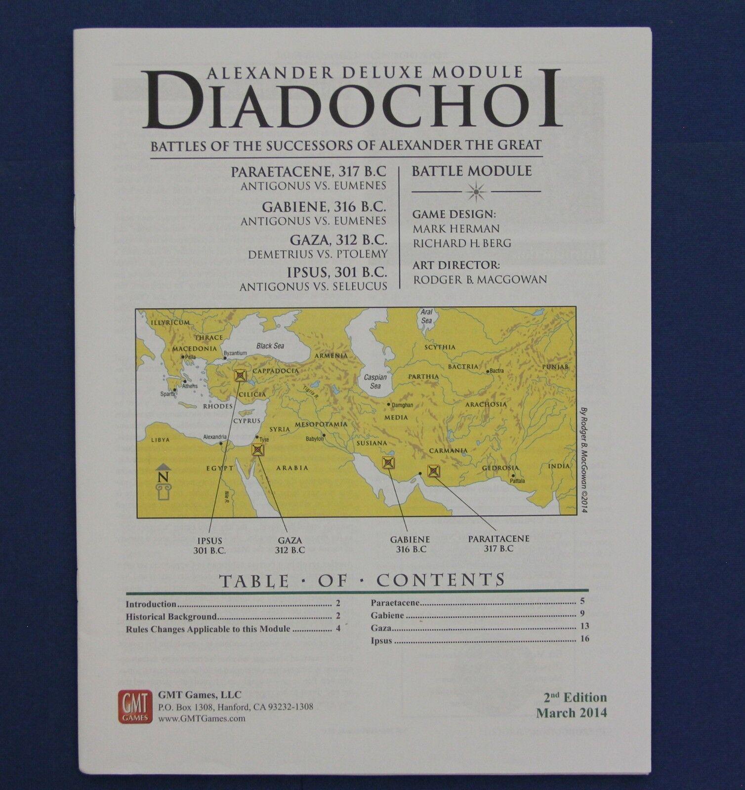 Great Battles of History Diadochoi Battles Alexander Deluxe Module 2d Edition