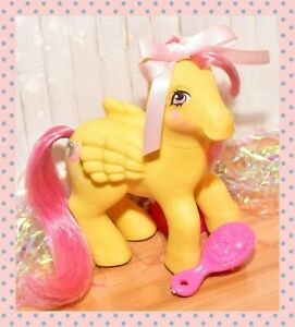 ❤️My Little Pony MLP G1 Vtg Magic Message Floater Yellow Pegasus Balloons 1985❤️