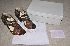 JIMMY-CHOO-ladies-heels-Evita-Ostrich-Leg-RRP-550-EUR36-UK3-NEW-in-BOX