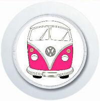 PINK VW CAMPER VAN CAR TAX DISC HOLDER REUSABLE