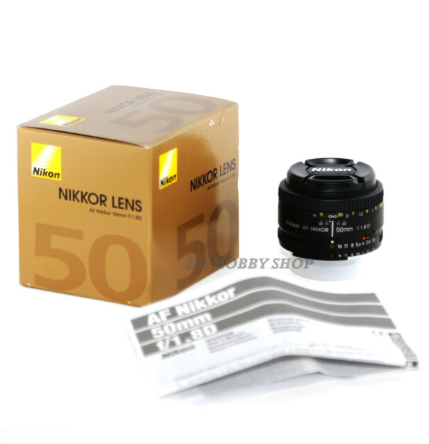 Objetivo Nikon AF 50mm f/1.8D nikkor 50 mm 1.8 f1.8 D