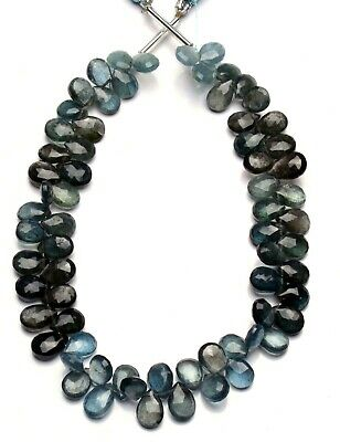Natural Moss Aquamarine Faceted Pear Shape Briolette Beads 9 Strand.b1055 AAA Quality 4\u00d76-4\u00d77mm