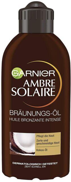 Garnier Ambre Solaire Tiefbraun SonnenöL FüR Schnelle Natürliche Bräune 200 ml