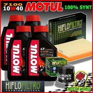 Oil Replacemenet Kit MOTUL 7100 10W40 Filters + Aprilia 1100 V4 Tuono Factory