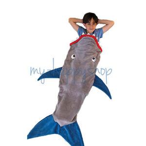 Cartoon Shark Blanket Sleeping Bag Plush Soft for Kids Girls Child ...