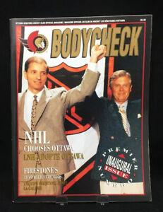 Vintage-Ottawa-Senators-Bodycheck-Magazine-Mike-First-1991-Inaugural-Issue
