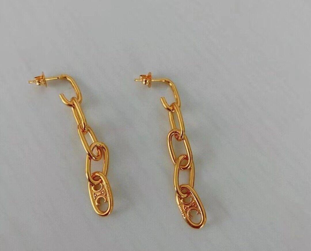 Celine long chain earrings - image 1