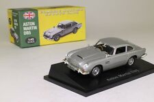 Atlas Editions; 1964 Aston Martin DB5; Silver; 1:43 Scale, Excellent Boxed