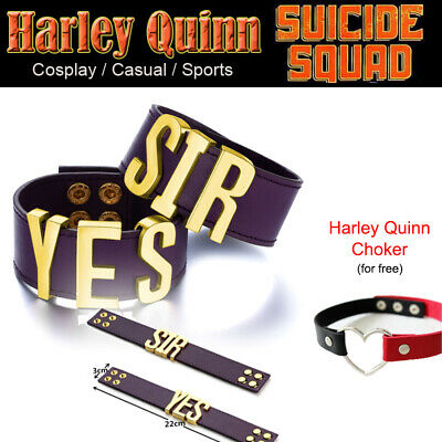 Harley Quinn YES SIR Bracelets Suicide Squad YES SIR Bracelets