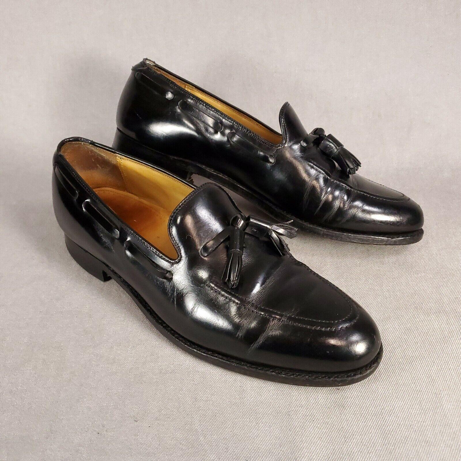 Johnston & Murphy Executive Glasgow Split Toe Black Oxford Men's US 10 M Leather