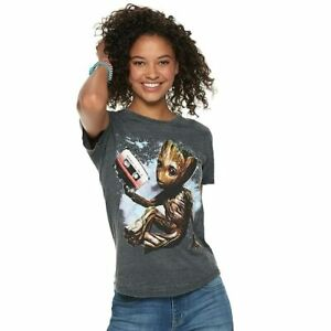 Marvel-Guardians-of-the-Galaxy-Juniors-Groot-Cassette-Tape-S-S-T-SHIRT-XL-NWT
