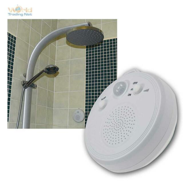 bathroom radio shower with pir motion sensor and suction cup battery operation - Bathroom Radio
