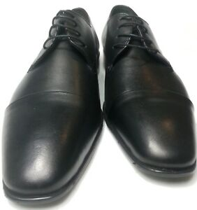 Bruno-rossi-senores-cuero-genuino-Business-boda-cuero-zapato-bajo-con-cordones-zapatos