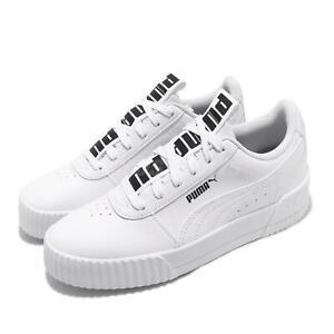 Detalhes sobre Puma Carina Bold Logo White Black Women Classic Casual Shoes  Sneakers 372853-01