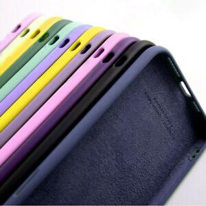 Liquid Funda de silicona para iPhone 13 12 11 Pro Max 8 7 XR XS X SE Teléfono Cubierta Trasera