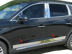 8PC-Stainless-Steel-Rocker-Panel-Trim-Lower-TH56660-For-LINCOLN-MKX-2016-2018