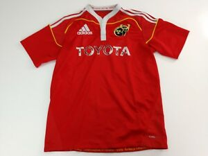 new styles 98f45 15c5b Details about Munster Rugby Ireland Adidas Toyota mens medium Rugby Shirt  Jersey Red