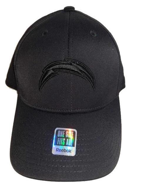 c7505013 San Diego Chargers Reebok Tg70z Black out NFL Team Logo Football Cap/hat