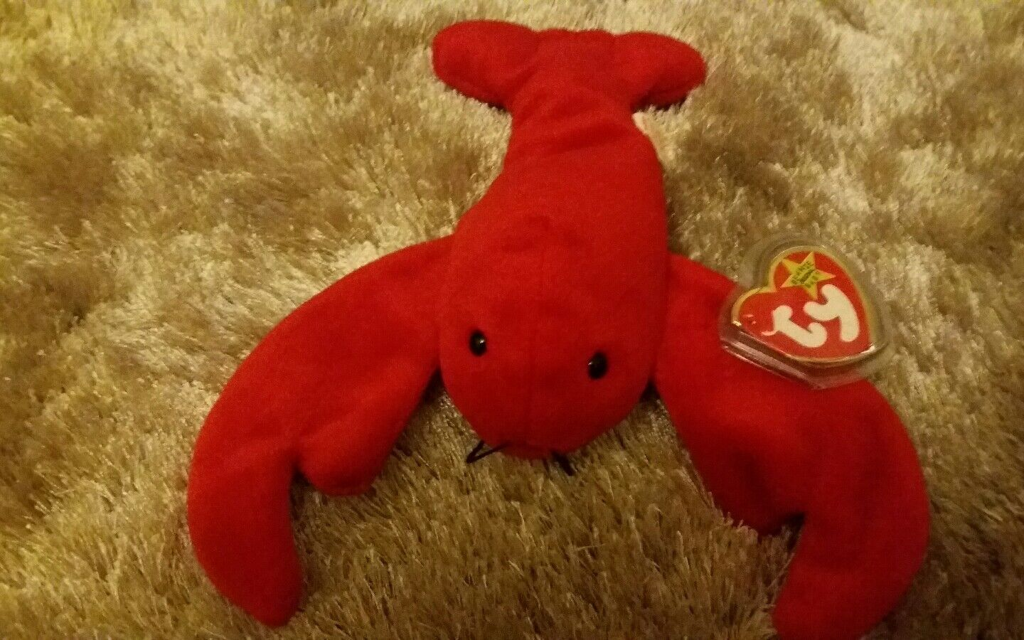 TY Beanie Baby Pinchers the Lobster  Original Rare. Plus mini Pinchers.