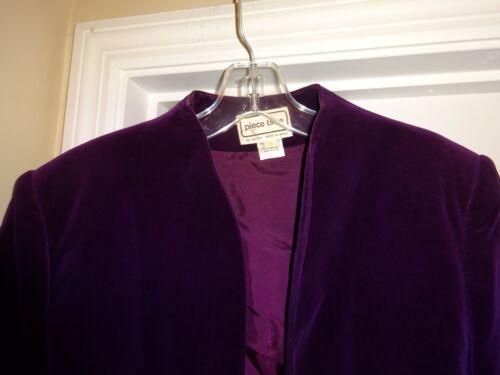Size Purple Lining Jacket k Blazer Time 14 Piece L Ladies Cotton With Rayon YnFB8