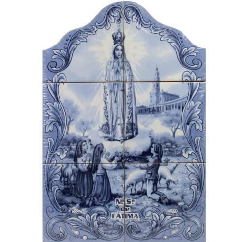 Our Lady of Fatima Apparition Portuguese Ceramic Tile Art Wall Panel Mural Decor