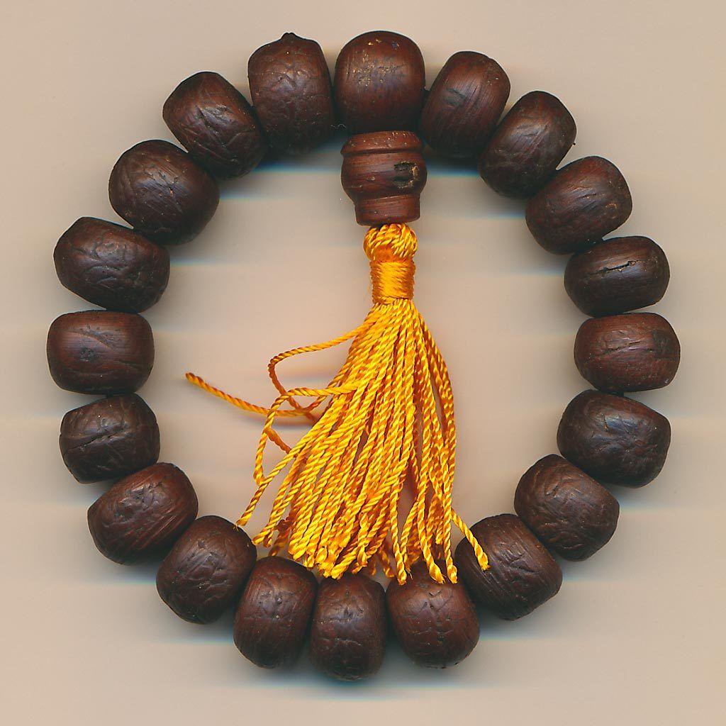Bracelet Bodhi Grains Nature Bouddhisme Surfeur Brun Illumination Mantra Gourou
