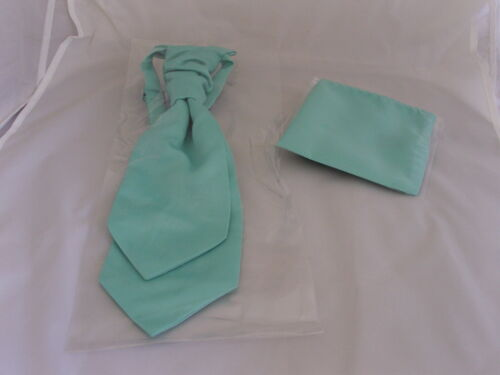 Bow ties-Self-tie-Cravats-Cummerbunds Matt Mint Green Collection-Hankies Sets