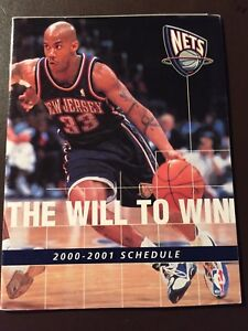 detailed look 65771 3936c Details about New Jersey Nets 2000-01 NBA pocket schedule - McDonalds