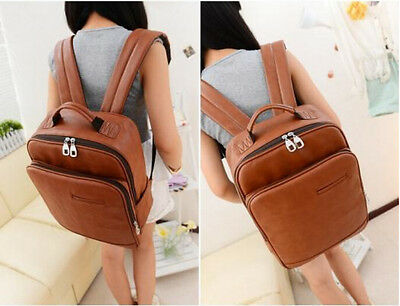 college student bookpack womens girl travel computer backpack PU shoulder casual
