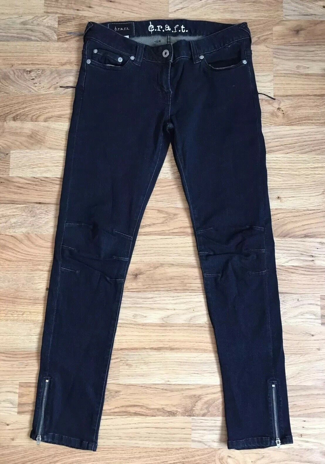C.R.A.F.T. Angel Superstretch Next Morning Wash bluee Skinny Jeans Size 27in NWT