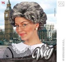 Neu Agatha Christie Shorts Grau Perücke Oma Oma Großmutter Kostüm