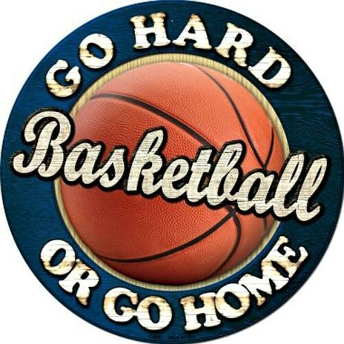 """Basketball Go Hard Or Go Home 12/"""" Round Metal Sign Sports Man Cave Home Decor"""