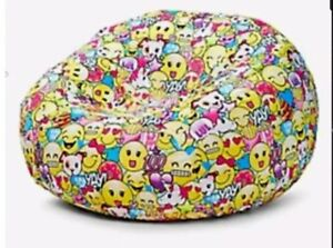 Swell Details About Justice Girls Inflatable Beanbag Chair Slip Unicorn Cover Only Emoji Smiley Soft Forskolin Free Trial Chair Design Images Forskolin Free Trialorg