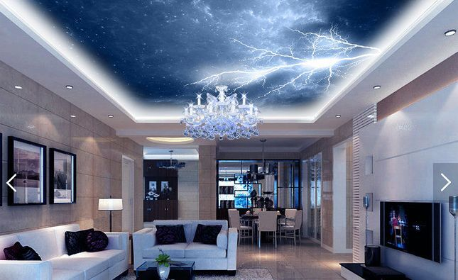 3D Thunder Lightning Sky WallPaper Murals Wall Print Decal Deco AJ WALLPAPER GB
