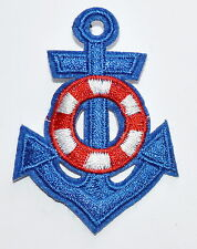HOT SALE! Lovely Blue Nautical / Anchor SEA Biker Hippie Iron On Patch