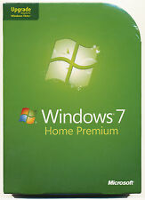 NEW SEALED BOX Microsoft Windows 7 Home Premium Upgrade 32 & 64 Bit DVDs