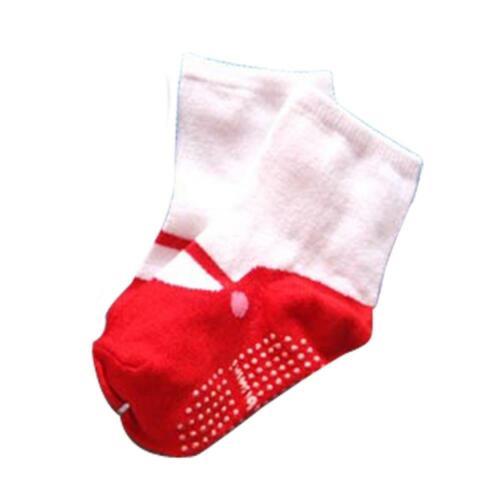 Girls 0-24M Shoes Newborn Crib Boots Anti-slip Baby Floor Socks Cotton