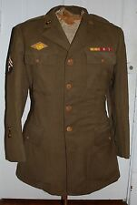 ORIGINAL WW2 US ARMY ENLISTED MANS WOOL 4 POCKET JACKET ~ LARGE SZ 44R  # disk