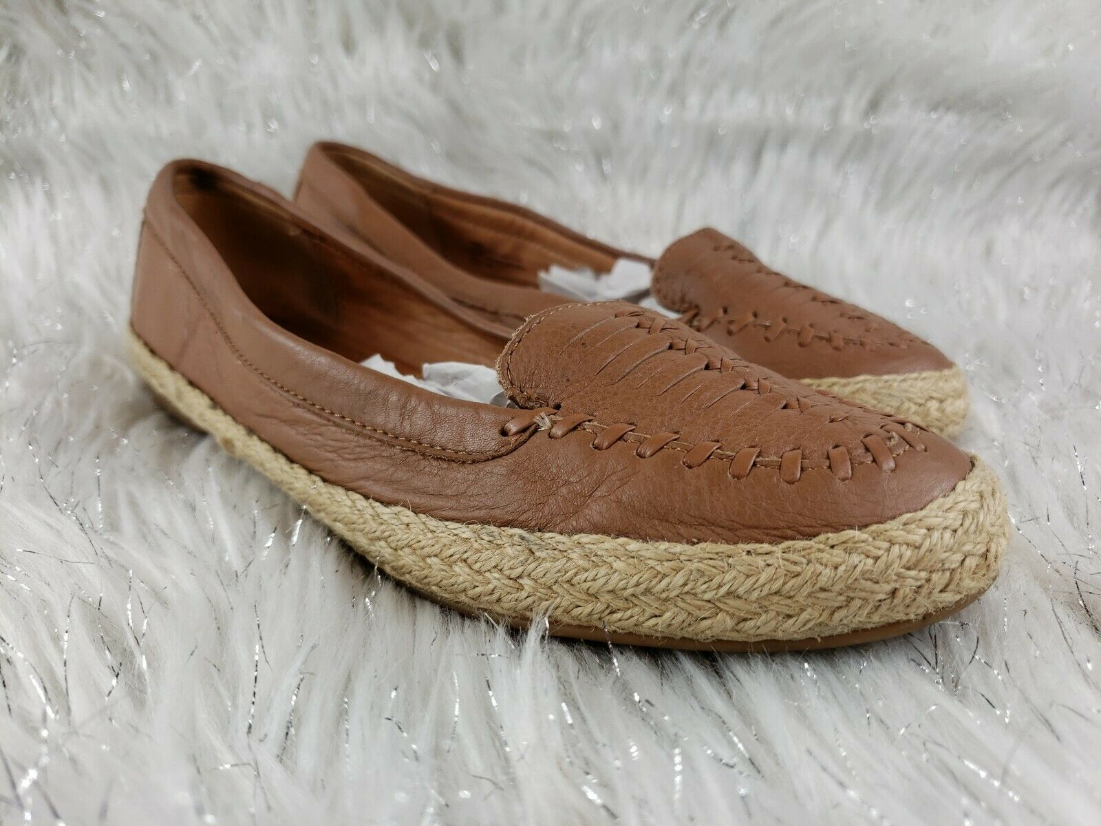 SOFFT Womens Brown Rope Casual Slip On Shoes Sz 7.5 GUC