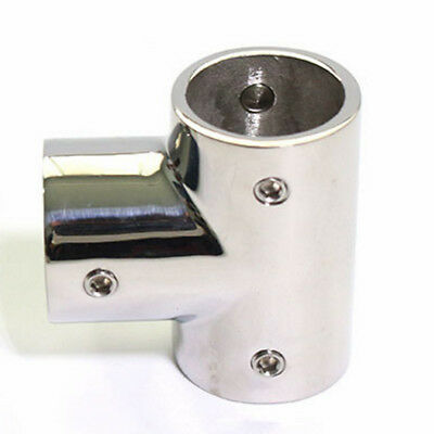 "Marine Grade Stainless Steel Boat Hand Rail Fittings 90 Degree Tee for 1/"" Tubing"