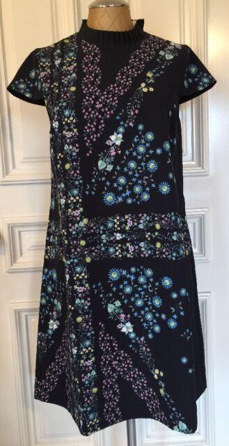 8d6765c7621a34 Ted Baker London Abbew Unity Flag Print Tunic Dress Black 4 US 10 Floral  Design