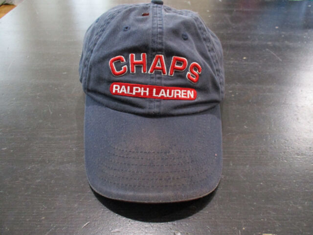 finest selection good selling free delivery Vintage Ralph Lauren Chaps Strap Back Hat Cap Red Blue Spell out Adjustable  90s