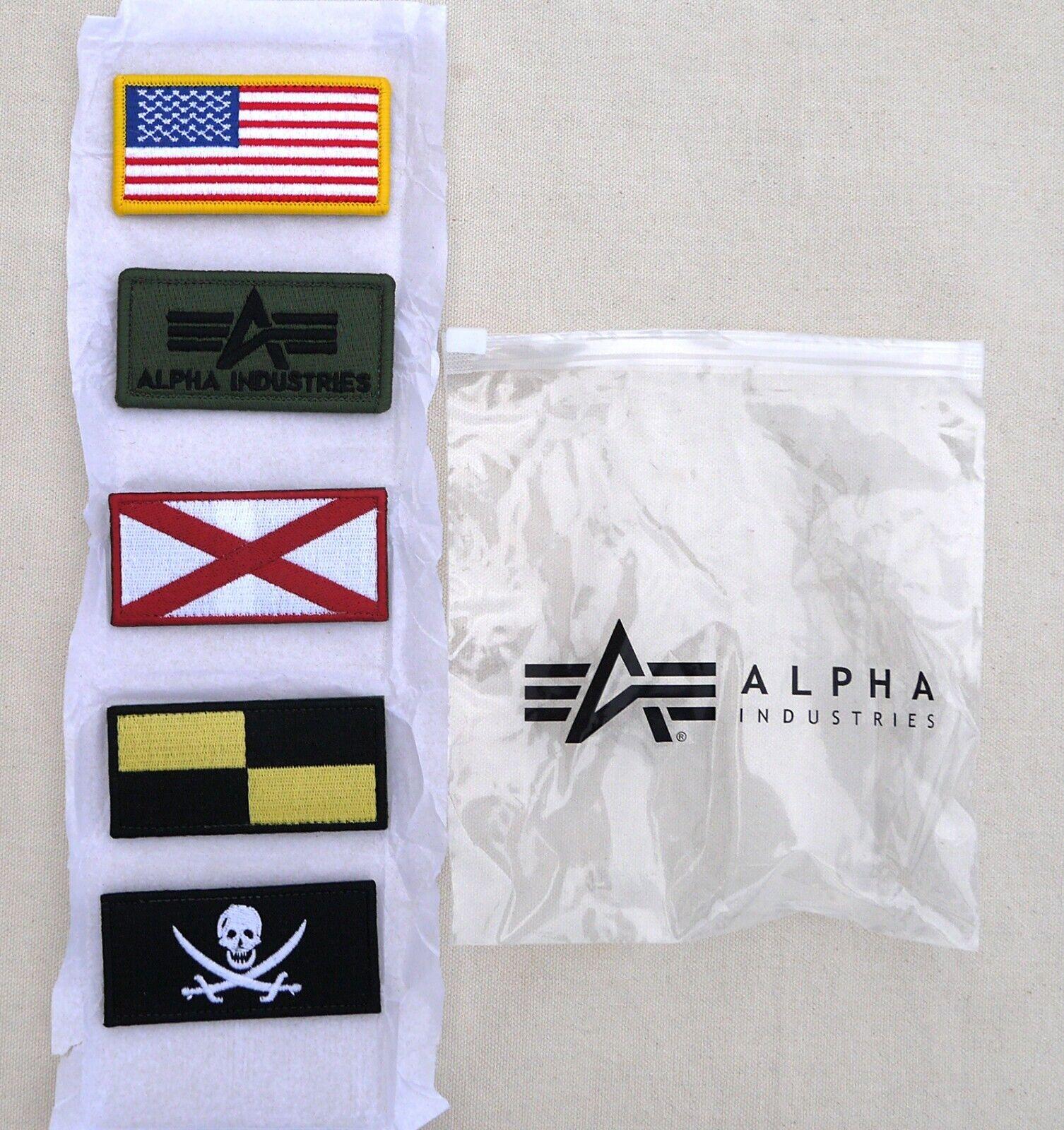 ALPHA INDUSTRIES Custom Patches for L2B Flex Flight Bomber Jacket Set of Five