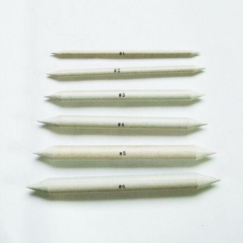6 stücke Blending Bleistift Stump Art Set Künstler Skizze Reiben Zeichnung