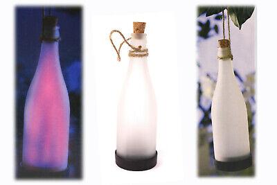 """Solar-LED-Lampe /""""Flaschenpost/"""" Solarleuchte Flasche farbwechselnd"""