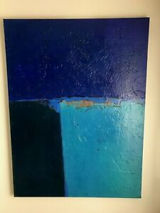 """Original Abstract Painting by Artist Jerry Czapp 48""""x 36"""" Acrylic on Canvas"""
