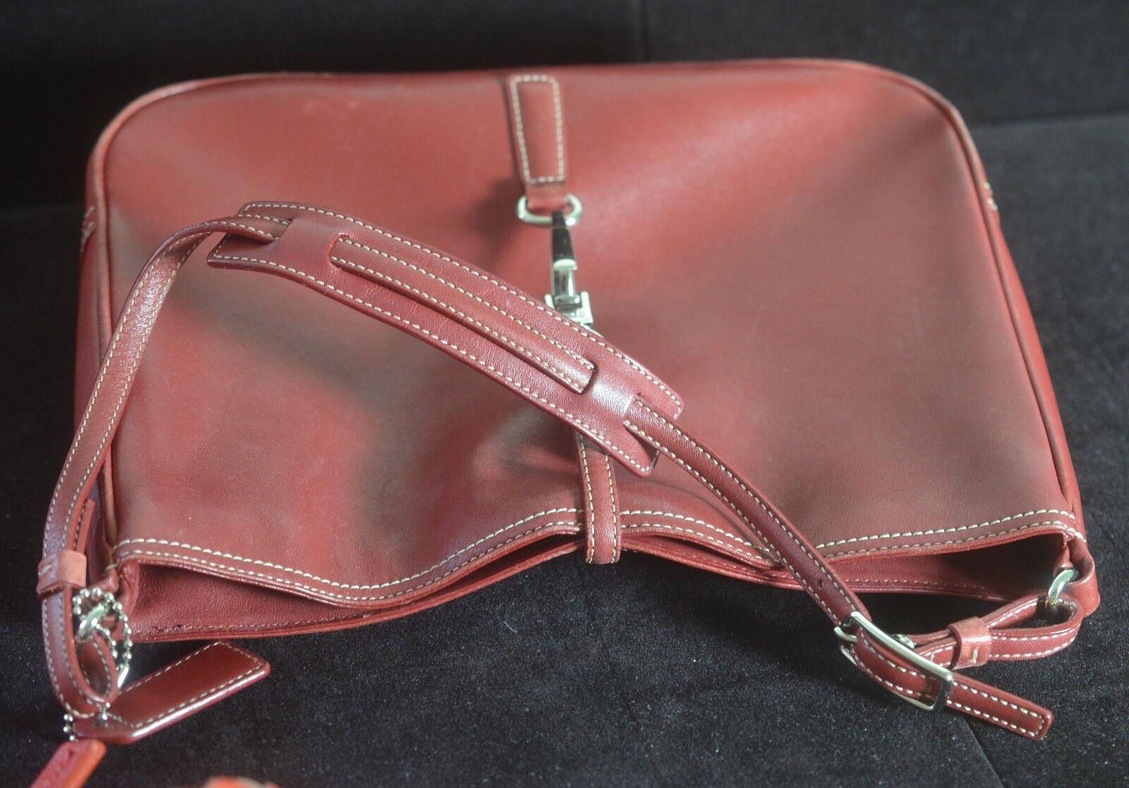 NICE Red Coach Bag Leather Handbag tt940-show original title