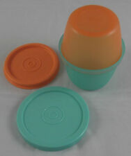 Tupperware D 01 Rumpelstilzchen Uno Duo 120 + 150 ml Mint Grün / Orange Neu OVP